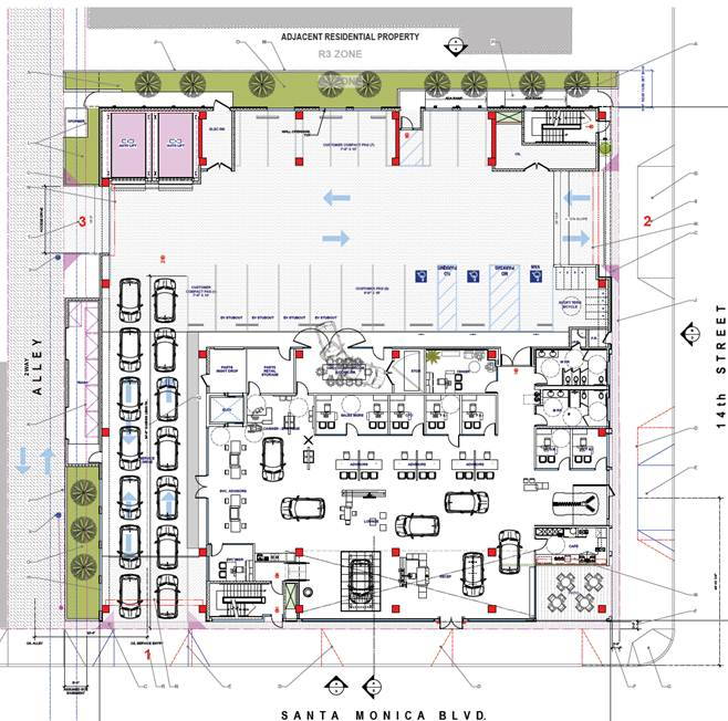 Car Dealer Floor Plan Interiors Design