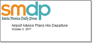 Article Airport Advisor Plans His Departure