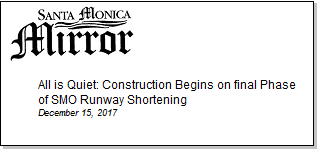 Article All is Quiet - Construction Begins on Final Phase of SMO Runway Shortening