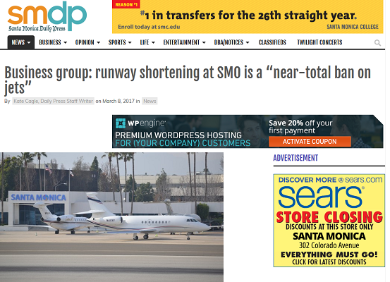Article Business Group Runway Shortening at SMO is near-total Ban on Jets