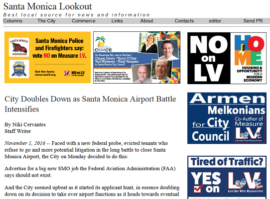 Article City Doubles Down as Santa Monica Airport Battle Intensifies