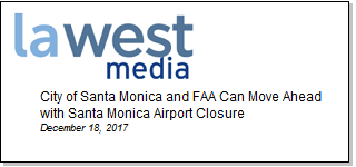 Article City of Santa Monica and FAA Can Move Ahead with Santa Monica Airport Closure