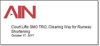 Article Court Lifts SMO TRO, Clearing Way for Runway Shortening