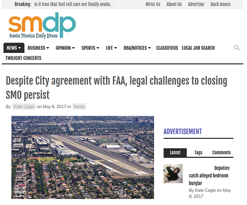 Article Despite City Agreement with FAA, Legal Challenges to Closing SMO Persist