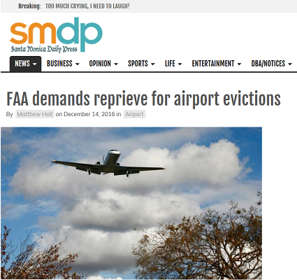 Article FAA Demands Reprieve for Airport Evictions