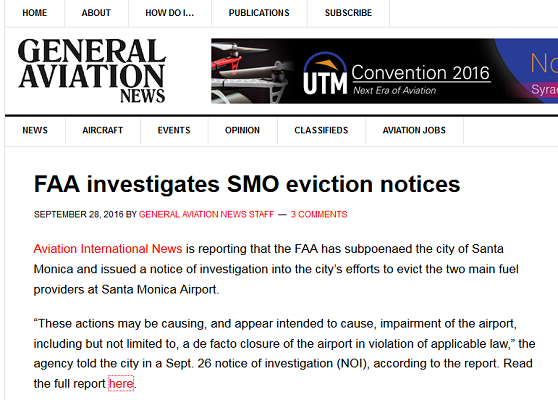 Article FAA Investigates SMO Eviction Notices