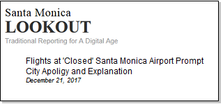 Article Flights at Closed Santa Monica Airport Prompt City Apology and Explanation