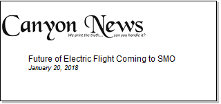 Article Future of Electric Flight Coming to SMO