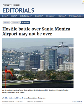 Article Hostile Battle Over Santa Monica Airport May Not be Over