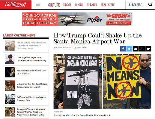 Article How Trump Could Shake Up he Santa Monica Airport War