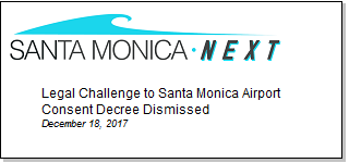 Article Legal Challenge to Santa Monica Airport Consent Decree Dismissed