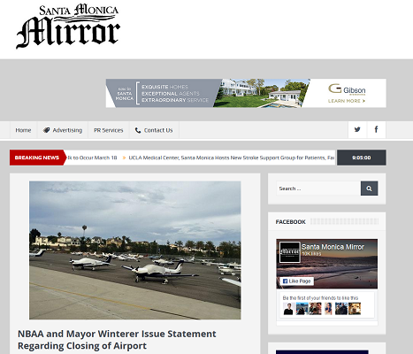 Article NBAA and Mayor Winterer Issue Statement Regarding Closing of Airport