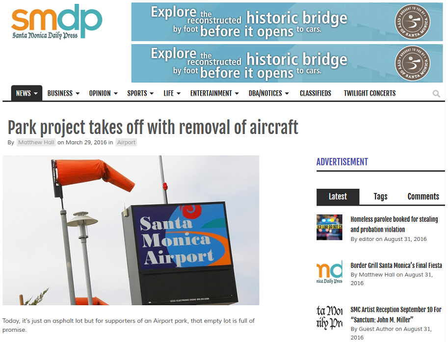 Article Park Project Takes Off with Removal of Aircraft