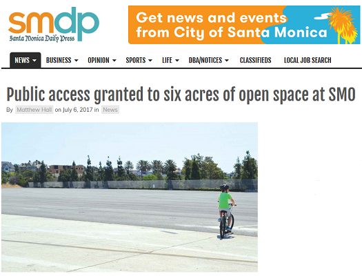 Article Public Access Granted to Six Acres of Open Space at SMO