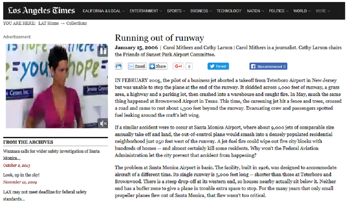 Article Running Out of Runway
