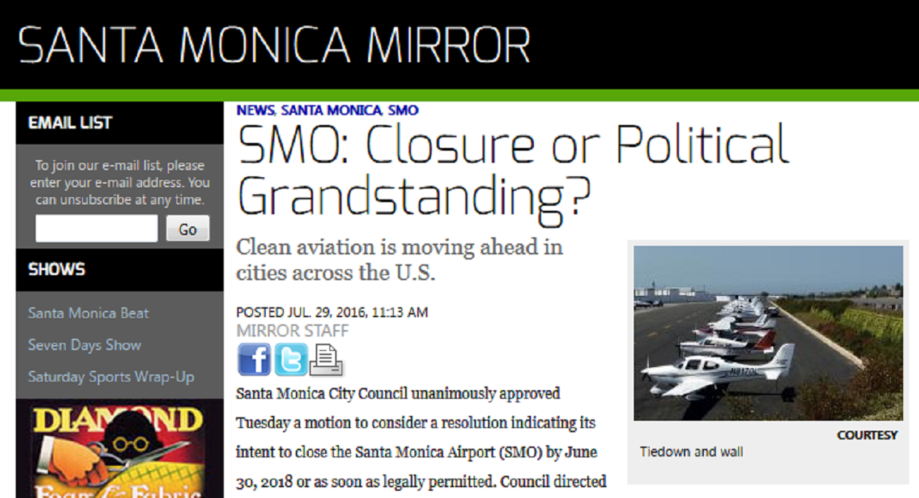 Article SMO Closure or Political Grandstanding