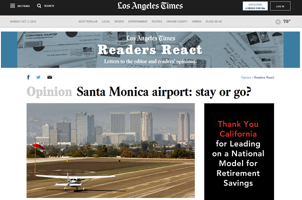 Article Santa Monica Airport - Stay or Go