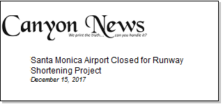 Article Santa Monica Airport Closed for Runway Shortening Project