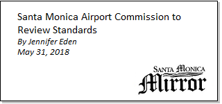 Article Santa Monica Airport Commission to Review Standards