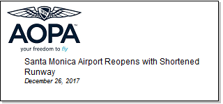Article Santa Monica Airport Reopens with Shortened Runway