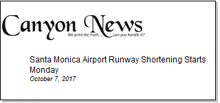 Article Santa Monica Airport Runway Shortening Starts Monday