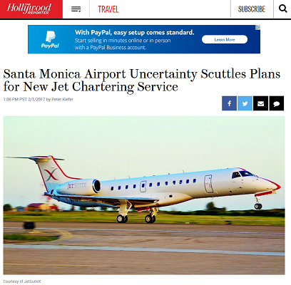 Article Santa Monica Airport Uncertainty Scuttles Plans for New Jet Chartering Service