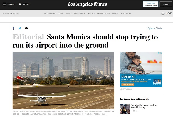 Article Santa Monica Should Stop Trying to Run Its Airport Into the Ground