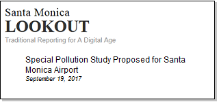 Article Special Pollution Study Proposed for Santa Monica Airport
