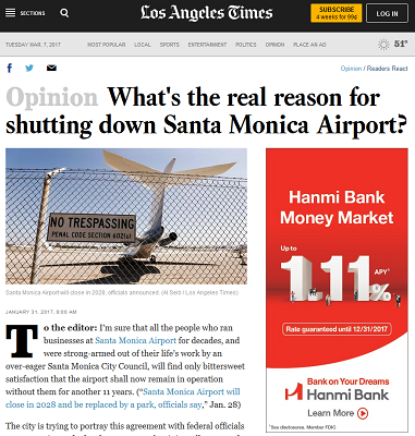 Article What's the Real Reason for Shutting Down Santa Monica Airport
