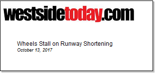 Article Wheels Stall on Runway Shortening