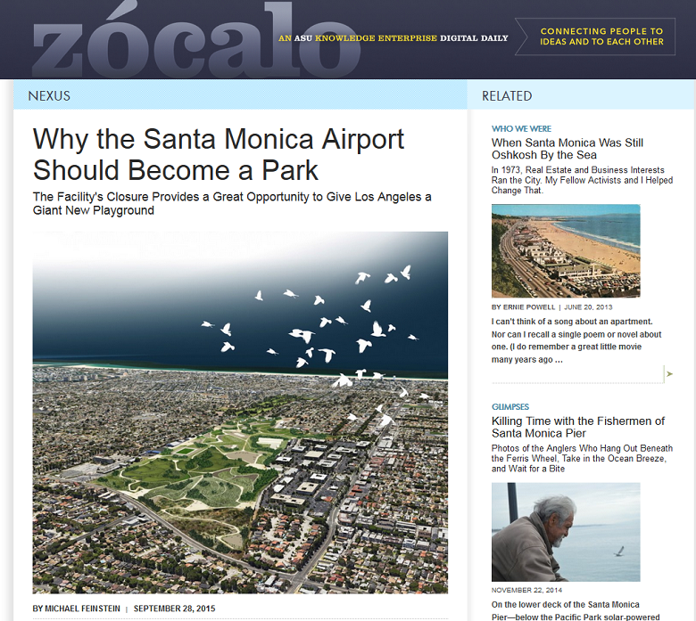 Article Why the Santa Monica Airport Should Become a Park