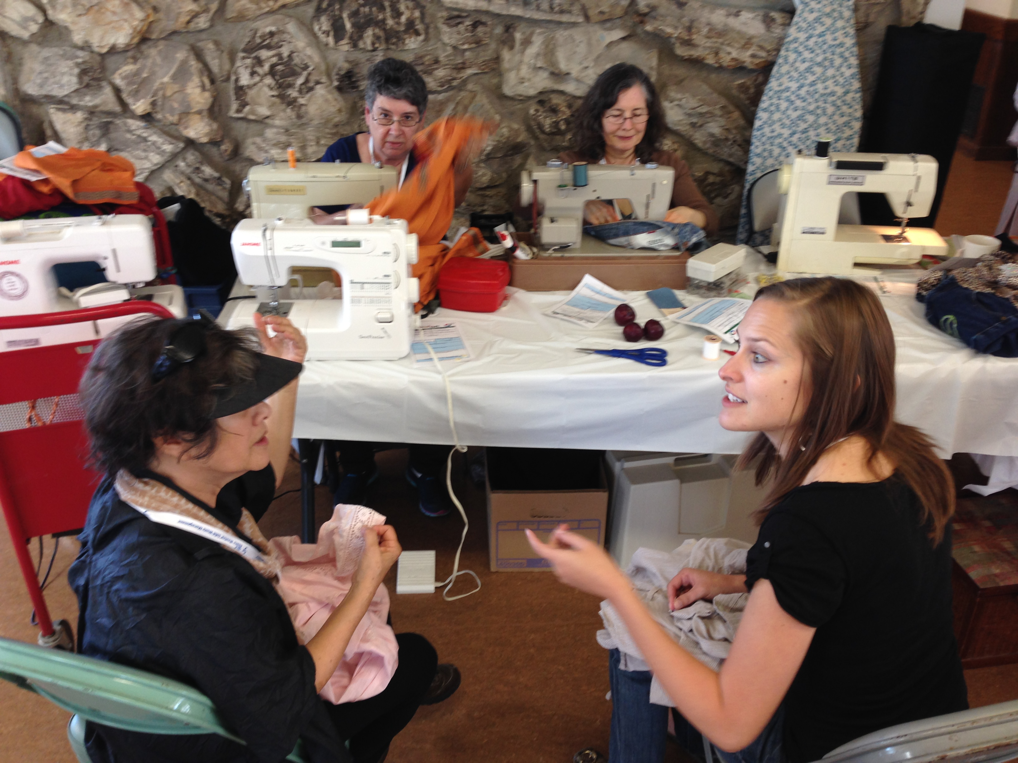 Sewing at Repair Cafe