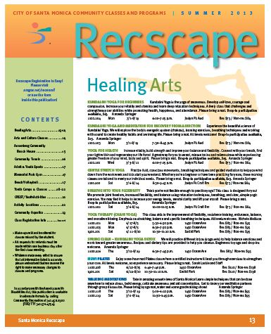 Recscape Cover Summer 2013