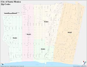 Santa Monica Zip Code Map | Zip Code MAP