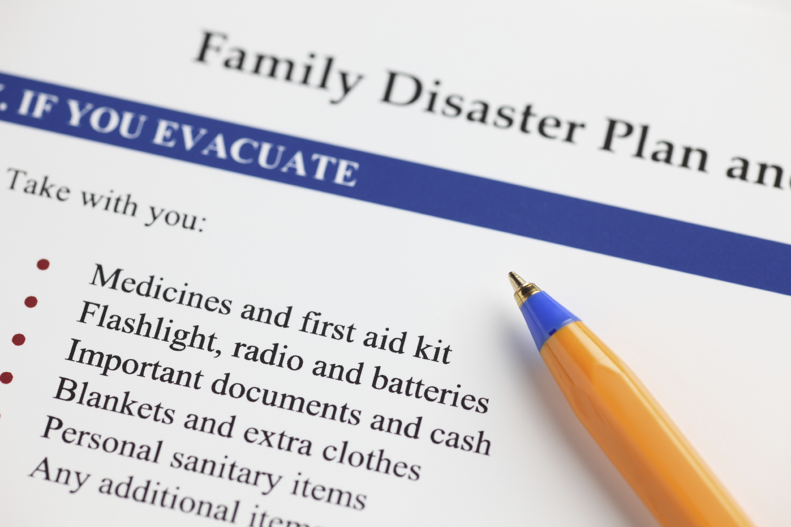 Family Planning for a Disaster