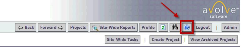 Locating ProjectDox user manual