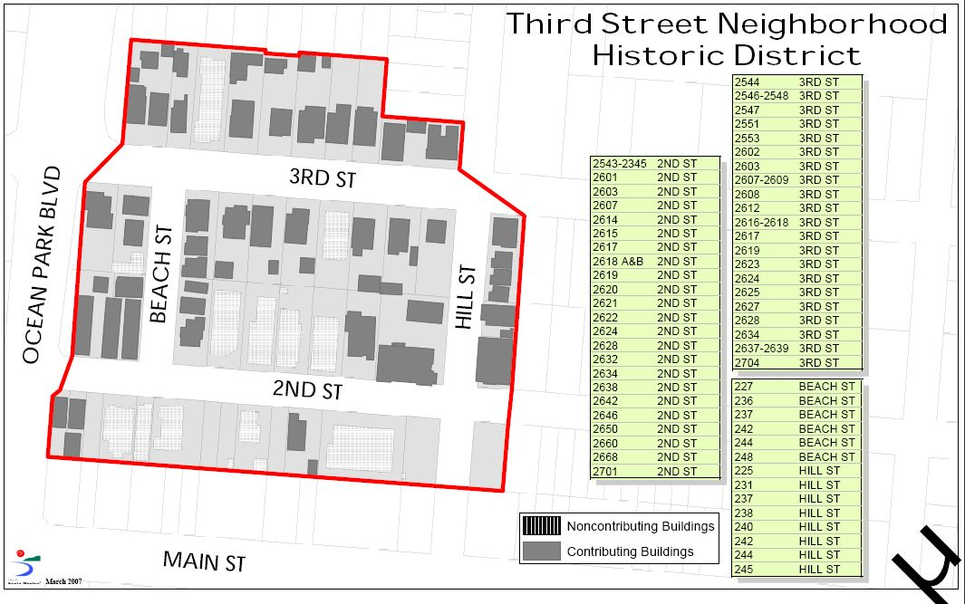 3rd Street Historic District Map