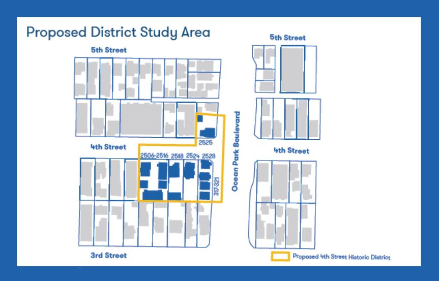 Proposed 4th Street District Map