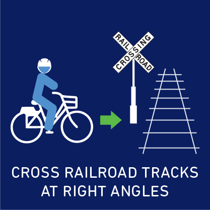 cross Railroad Tracks at right angles