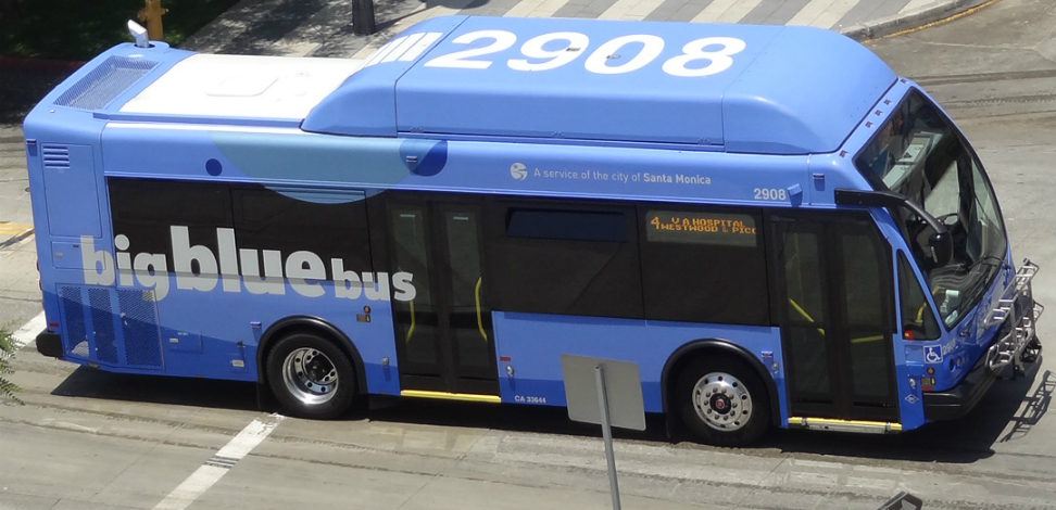 Blue Bus The City Of Santa Monica