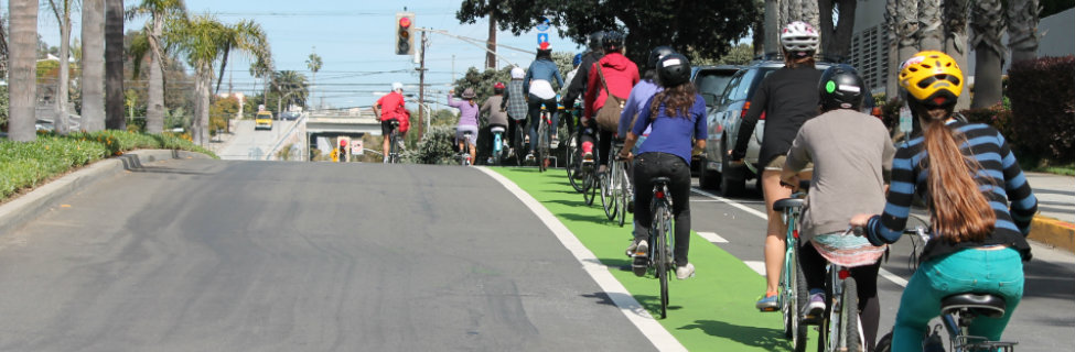 Green Bike Lanes Ocean Park Blvd