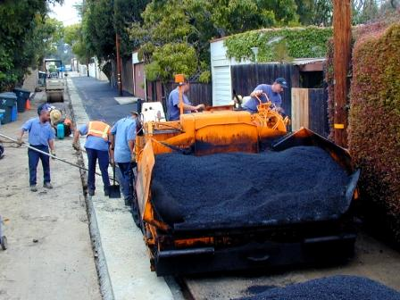 Asphalt going down