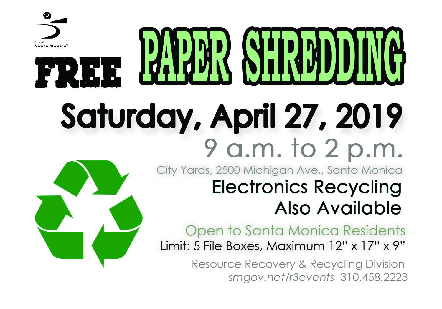 Paper Shredding April 27