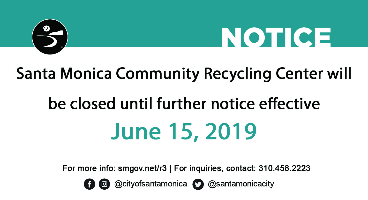 Recycle Center Closure