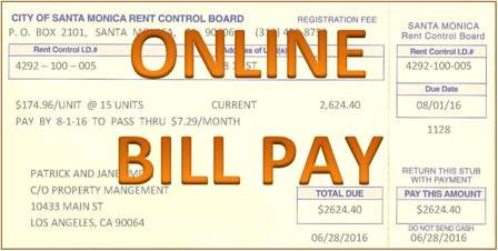 Pay Registration Online Ca >> Santa Monica Rent Control Pay Your Bill Online