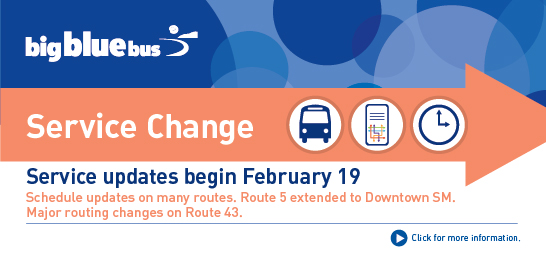 Big Blue Bus Service Change