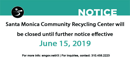 Recycling Center Closed Until Further Notice