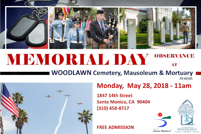 Annual Memorial Day Observance Day
