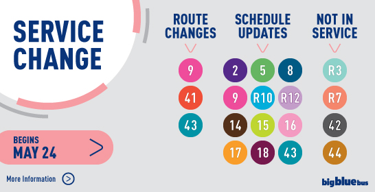 Service Changes Begin May 24