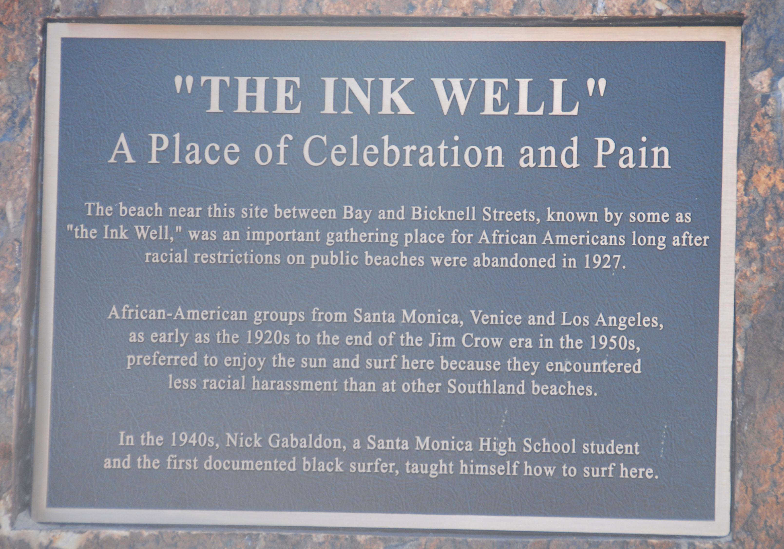 Inkwell Beach Monument